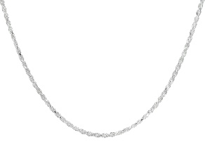 Sterling Silver Diamond Cut Rope Chain 18 inch