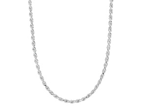 Sterling Silver .5mm Diamond Cut Rope Chain 20 inch