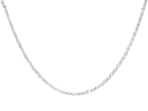 Sterling Silver Diamond Cut Rope Chain 24 inch