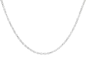 Sterling Silver .5mm Diamond Cut Rope Chain 30 inch