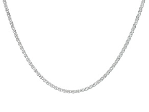 Sterling Silver 1mm Diamond Cut Wheat Chain 20 inch