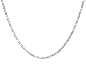 Sterling Silver Diamond Cut Wheat Chain 24 inch