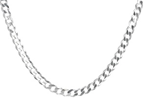 Sterling Silver Curb Chain 18 inch