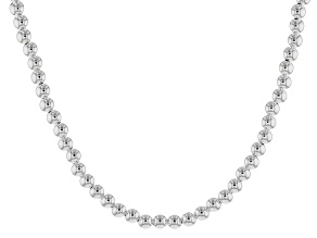 Sterling Silver Bead Necklace 20 inch