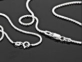 Sterling Silver Diamond Cut Popcorn And Criss Cross Chain Set 60 inch