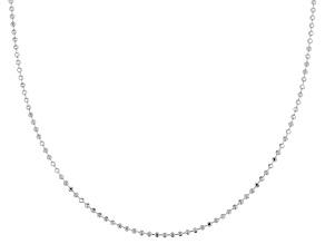 Sterling Silver Diamond Cut Bead Chain 60 inch