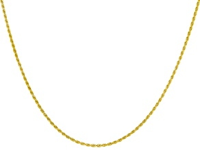 18k yellow gold over sterling silver rope chain.