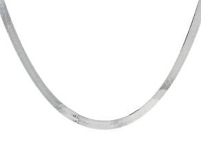 Sterling Silver Herringbone Necklace 20 inch