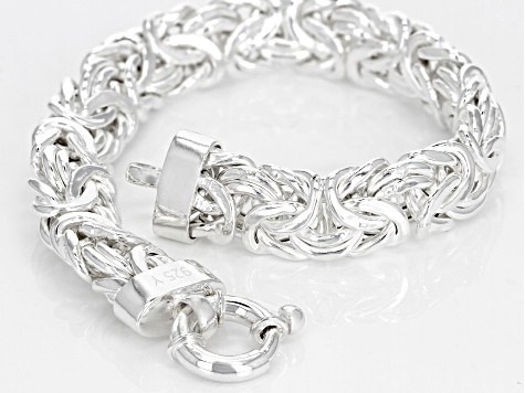 Sterling Silver Byzantine Bracelet 7 5 Inch