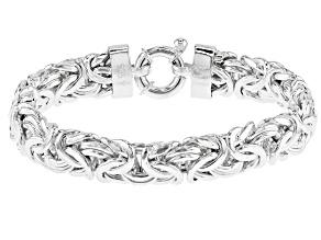 Sterling Silver Byzantine Bracelet 8 inch