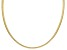 18K Yellow Gold Over Sterling Silver 4mm Reversible Hammered & Polished Omega Necklace 18 inch