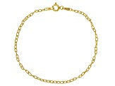 18K Yellow Gold Over Sterling Silver Cable, Mirror, Twist, & Popcorn Bracelet Set Of 4