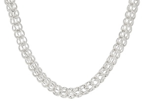 STERLING SILVER PERSIAN LINK DESIGNER NECKLACE 20 INCH
