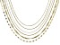 18K Yellow Gold Over Sterling Silver Multi-Link Chain Necklace Set Of 6