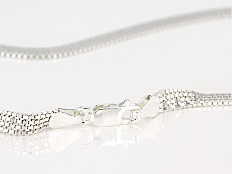 Sterling Silver 4.5MM Flat Venitian Box Chain Necklace