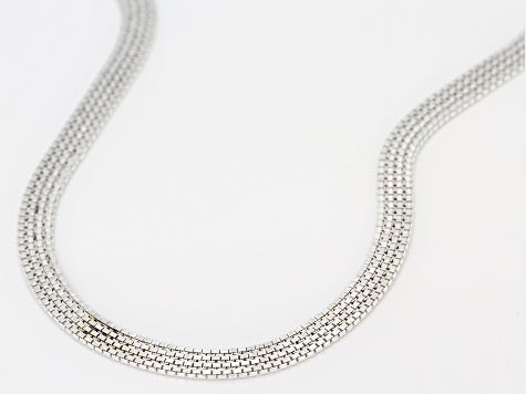 Sterling Silver 4.5 MM Flat Venitian Box Chain Necklace