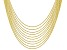 18K Yellow Gold Over Sterling Silver Box Chain Necklace Set Of 10