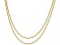 18K Yellow Gold Sterling Silver Rope Chain Necklace Set 20 & 24 Inch