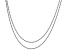 Sterling Silver Rope Chain Necklace Set 20 & 24 Inch