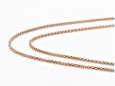 18K Rose Gold Over Sterling Silver Popcorn Chain Necklace Set  24, & 28 Inch