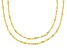 18K Yellow Gold Over Sterling Silver Singapore Chain Necklace Set 20, & 24 Inch