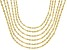 18K Yellow Gold Over Sterling Silver Twisted Mirror Chain Necklace Set Of 6