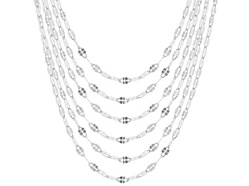 Picture of Sterling Silver Twisted Mirror Chain Necklace Set of 6