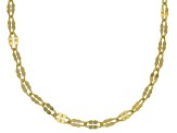 18K Yellow Gold Over Sterling Silver Twisted Mirror Chain Necklace 20 Inch Set Of 5