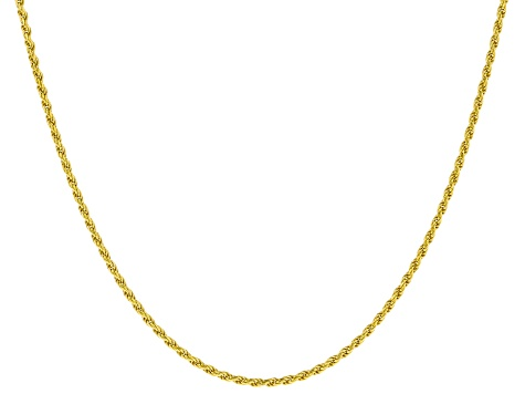 18K Yellow Gold Over Sterling Silver Diamond Cut Rope Chain Necklace Set Of 6