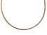 18K Rose Gold Over Sterling Silver 3MM Omega Necklace 18 Inch