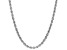 Sterling Silver 2.5MM Diamond Cut Rope Chain Necklace 24 Inch