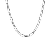 Sterling Silver 3.5MM Elongated Cable Link Chain Necklace 20 Inch