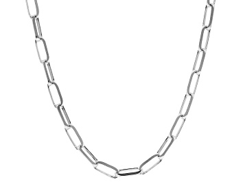 Picture of Sterling Silver 3.5MM Elongated Cable Link Chain Necklace 24 Inch