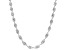 Sterling Silver 3.5MM Diamond Cut Twisted Herringbone Chain Necklace 24 Inch