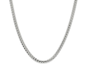 Sterling Silver 2.5MM Popcorn Link Chain Necklace 18 Inch