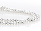 Sterling Silver Diamond Cut Bead Chain Necklace 18 Inch