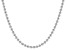Sterling Silver Diamond Cut Bead Chain Necklace 24 Inch