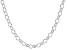 Sterling Silver Polished Oval Link Chain Necklace 20 Inch