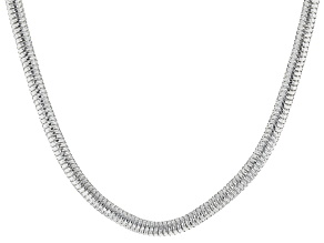 Sterling Silver Diamond Cut Snake Chain Necklace 18 Inch