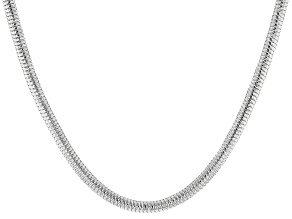 Sterling Silver Diamond Cut Snake Chain Necklace 20 Inch