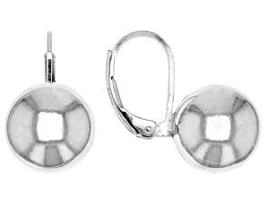 Sterling Silver 11.5MM Station Ball Earrings