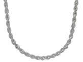 Sterling Silver 2MM Diamond Cut Rope Chain Necklace 24 Inch