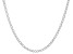 Sterling Silver 3.7MM Polished Cable Link Chain Necklace 18 Inch