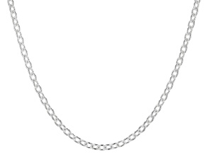 Sterling Silver 3.7MM Polished Cable Link Chain Necklace 20 Inch