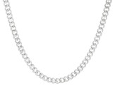 Sterling Silver Polished Curb Chain Necklace 18 Inch
