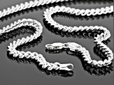 Sterling Silver Polished Curb Chain Necklace 20 Inch