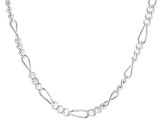 Sterling Silver 5.5MM Polished Figaro Chain Necklace 24 Inch