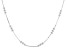 Sterling Silver 2MM Polished Box Link Chain Necklace  Station Round Beads 18 Inch