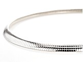Sterling Silver 7.5MM Polished Omega Necklace 20 Inch