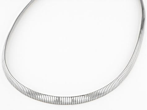 Sterling Silver 5.5 MM Polished Omega Necklace 20 Inch